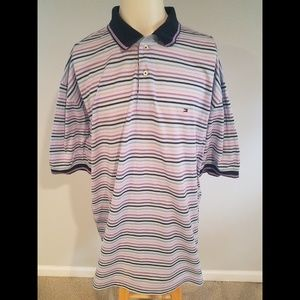 Tommy Hilfiger Striped S/S Polo Shirt Size XXL